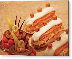 Food - Cake - Little Cakes Acrylic Print by Mike Savad