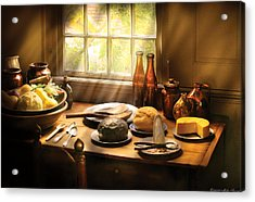 Food - Ready For Guests Acrylic Print by Mike Savad