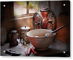 Food - The Morning Chores Acrylic Print by Mike Savad