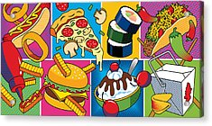 Acrylic Print featuring the digital art Food Essentials by Ron Magnes