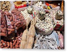 Acrylic Print featuring the photograph Food Market by Aidan Moran