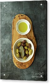 Food Still Life With Olives Acrylic Print