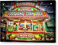 Acrylic Print featuring the photograph Foot Long Corn Dogs by Spencer McDonald