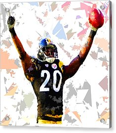 Acrylic Print featuring the painting Football 113 by Movie Poster Prints