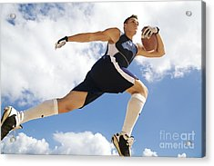 Football Athlete II Acrylic Print by Kicka Witte - Printscapes