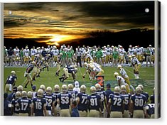 Football Field-notre Dame-navy Acrylic Print