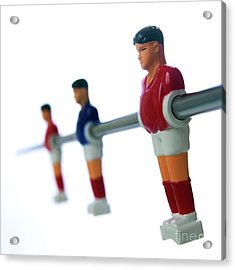 Football Figurines Acrylic Print by Bernard Jaubert