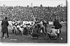 Football Game University Of Pennsylvania Vs Lafayette University C 1896 Acrylic Print by A Gurmankin