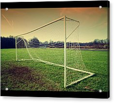Football Goal Acrylic Print by Federico Scotto