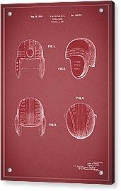 Football Helmet 1935 - Red Acrylic Print
