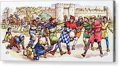 Football In The Middle Ages Acrylic Print