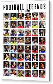 Football Legends Acrylic Print