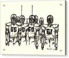 Football Nasties Acrylic Print by Brett H Runion