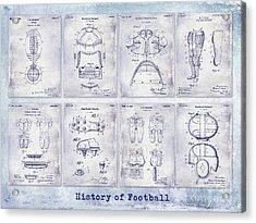 Football Patent History Blueprint Acrylic Print