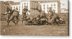 Football Play 1920 Sepia Acrylic Print by Padre Art