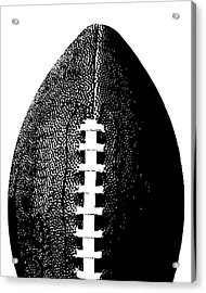 Football Poster Black White Acrylic Print