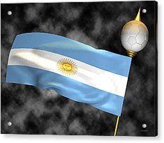 Football World Cup Cheer Series - Argentina Acrylic Print by Ganesh Barad