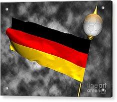 Football World Cup Cheer Series - Germany Acrylic Print by Ganesh Barad