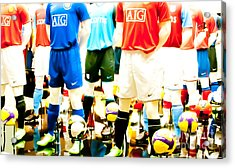Footballers Unite Acrylic Print by Andy Smy