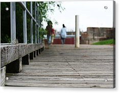 Footbridge Acrylic Print by David S Reynolds