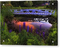Footbridge Sunset Acrylic Print