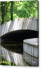 Footbridge5668 Acrylic Print by Carolyn Stagger Cokley