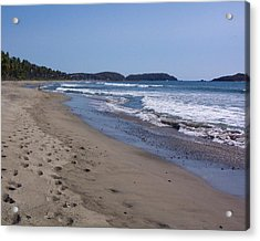 Footprint In The Sand Acrylic Print by James Johnstone