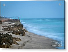 Acrylic Print featuring the photograph Footprints And Rocks by Tom Claud