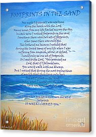 Footprints In The Sand Acrylic Print by Shelia Kempf