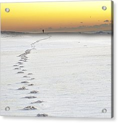 Footprints To Sunrise Acrylic Print by Vicki Jauron