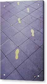 Footsteps On The Street Acrylic Print