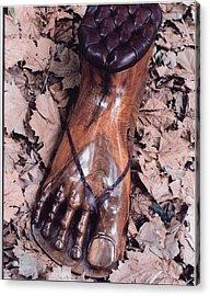 Footstool Acrylic Print by Lionel Larkin