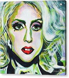 For Being Different Is Easy But To Be Unique Its More Complicated Thing. Lady Gaga Acrylic Print