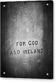 For God And Ireland Macroom Ireland Acrylic Print by Teresa Mucha