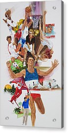For Love Of The Games Acrylic Print by Chuck Hamrick
