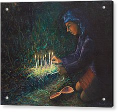 Acrylic Print featuring the painting For The Ancestors by Carla Woody