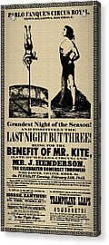 For The Benefit Of Mr Kite Acrylic Print by Bill Cannon