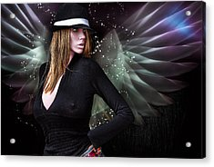 For The Demon Lurked Under The Angel In Me .... Acrylic Print by Bob Kramer