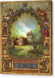 Acrylic Print featuring the painting For The Love Of Castles by Retta Stephenson