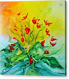 Acrylic Print featuring the painting For You by Teresa Wegrzyn