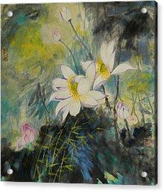 Foral White Acrylic Print