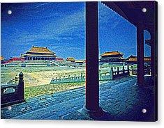 Forbidden City Porch Acrylic Print by Dennis Cox ChinaStock