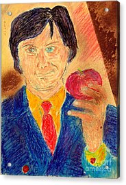 Acrylic Print featuring the painting Forbidden Fruit From Steve Jobs by Richard W Linford