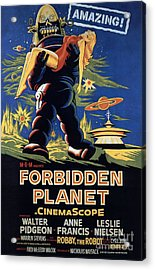 Forbidden Planet Amazing Poster Acrylic Print