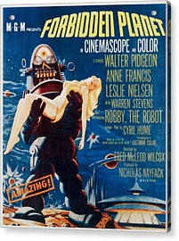 Forbidden Planet, Left Robby The Robot Acrylic Print by Everett
