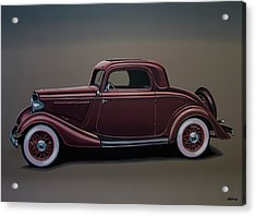 Ford 3 Window Coupe 1933 Painting Acrylic Print by Paul Meijering