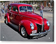 Ford 40 In Red Acrylic Print by Larry Bishop