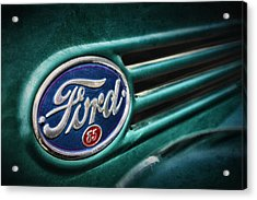 Acrylic Print featuring the photograph Ford 85 by Caitlyn Grasso