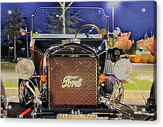 Ford Black Hot Rod Old School Acrylic Print by Pictures HDR