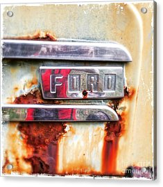 Acrylic Print featuring the photograph Ford Details by Terry Rowe